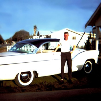 My 1955 Ford Fairlane Two Door Hard Top, Tri Tone Paint