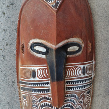 Papuan Mask - 1950's ? - Folk Art