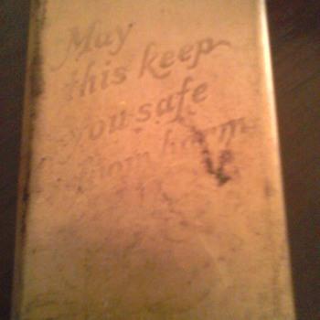 World War 2 shield and prayer book