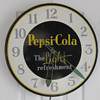 "PEPSI-COLA ""THE LIGHT REFRESHMENT"" CLOCK, 21"" 1950'S"