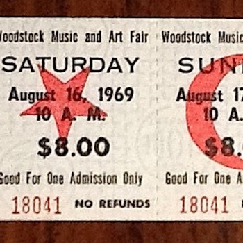 Woodstock ticket - Music