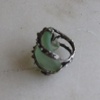 Sea glass bottle neck ring for Jewels