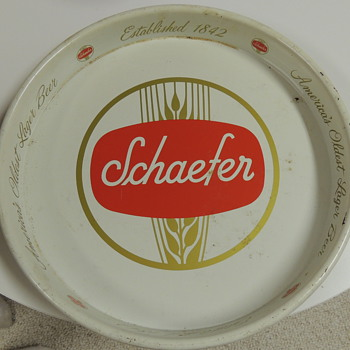 SHAEFER Beer Tray - Breweriana