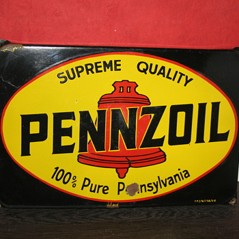 pennzoil porcelain sign