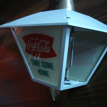 VINTAGE COCA COLA ADVERTISING ROTATING LAMP