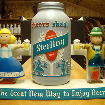 Vintage Sterling Beer Chalk ware beer advertisement.......