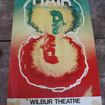 1968 Poster from the Rock Musical Hair