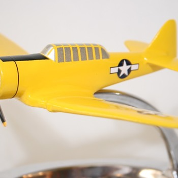 RARE Cast Metal North American T-6 Trainer Ashtray Model  - Military and Wartime