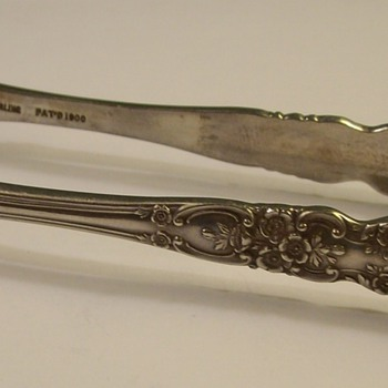 Sterling Silver Fork Tongs 1930's