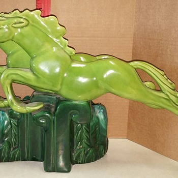 Running Horse Planter in Green Tones