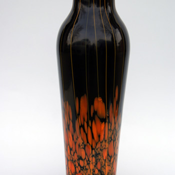 Kralik Lines and Spots tall vase - Art Glass
