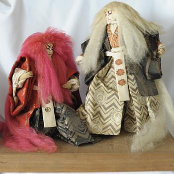 Japanese Handmade Kabuki Dolls
