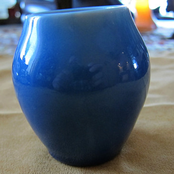 Rookwood Small Vase #6144 - Blue Gloss Glaze - 1948 - Art Pottery