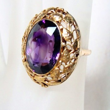 Antique Gold and Amethyst Ring - Fine Jewelry