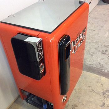Classic orange crush machine
