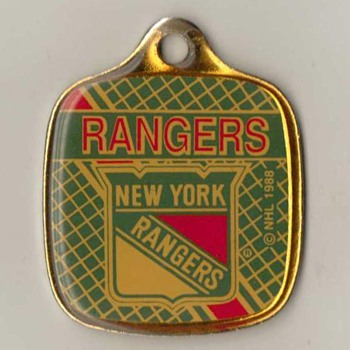 "1988 - ""New York Rangers"" Keyfob Pendant - Hockey"