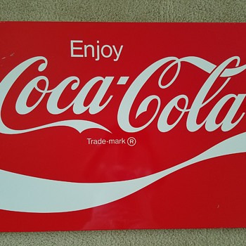 Coke sign in great condition - a great find! - Coca-Cola