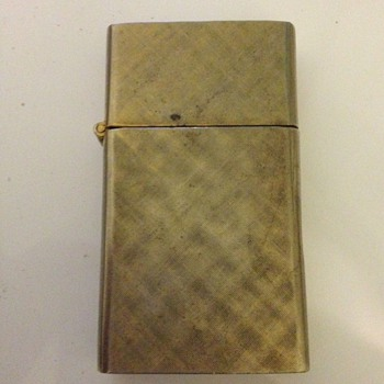 14k Gold Plated FLORENTINE Made in U.S.A. Lighter - Tobacciana