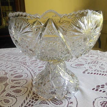 Compote Fruit Pedestal Bowl 1906 Regal Pattern - Glassware