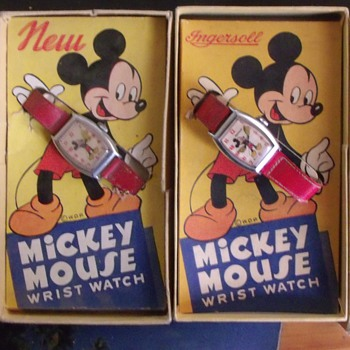 The Differences between the 1947 and 1948 Mickey Wrist Watches - Wristwatches