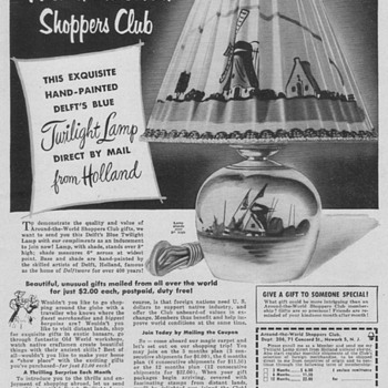 1953 - Delft Twilight Lamp Advertisement - Advertising