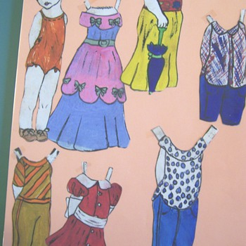 hand made paper doll
