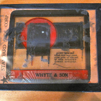 Antique Edison Phonograph Slide (NEED HELP!) - Advertising