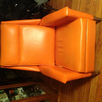 My orange chair. Almost broke my back picking up.