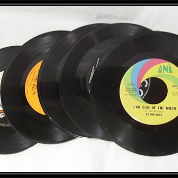 Some old 45 rpm Vinyl Records - Records