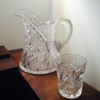 Looking to identify family crystal pitcher