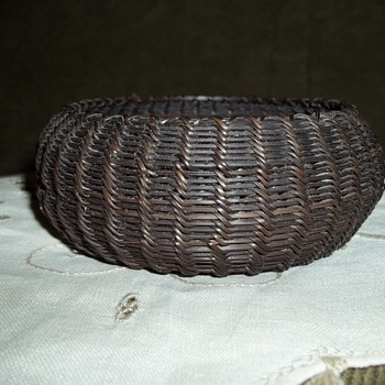 Native American Early Eskimo Inupiat  Indian Baleen Basket - Native American