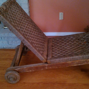 antique recliner chair  - Furniture