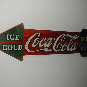 Coca Cola Arrow Sign