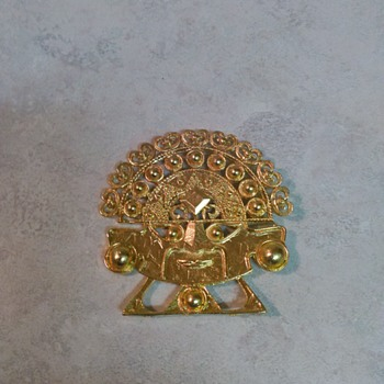 AZTEC HEAD BROOCH