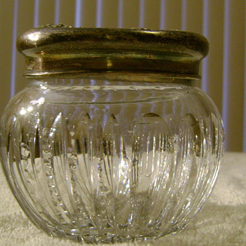 Glassware with Sterling Top