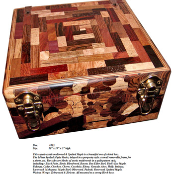 Here is another one of my Exotic wood boxes.