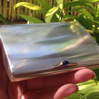 Silver Cigarette Case by Joseph Kopf