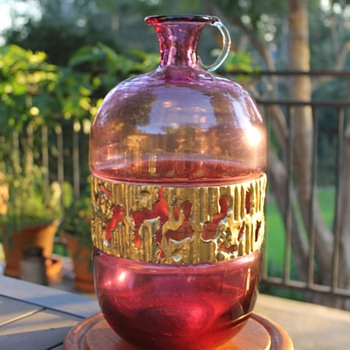 Large Flagon by Esperia and Brotto - Art Glass