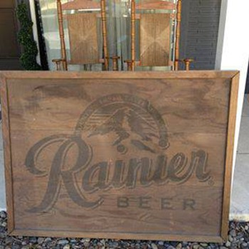 Wooden Rainier Beer Sign - Breweriana