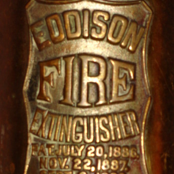 Antique Eddison Fire Extinguisher Pat. Sept 3, 1889 - Firefighting