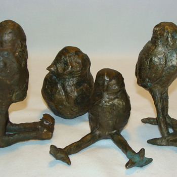 Antique Vintage Bronze Brass Bird Sculpture Brutalist Art Pablo Picasso Era