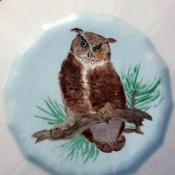 Hand Painted Folk Art Plate - Folk Art