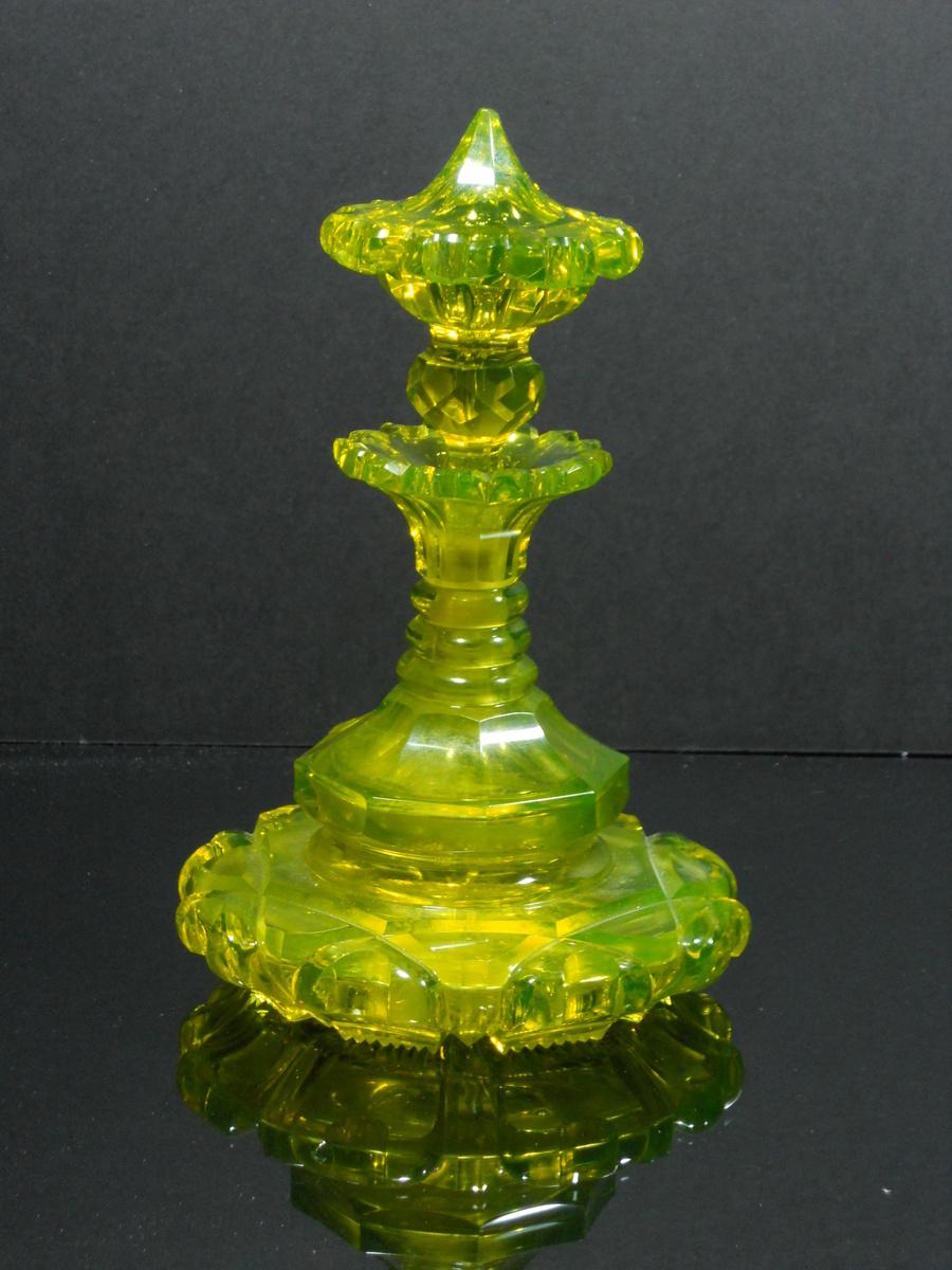 Beidermeier bohemian cut glass perfume bottles for How do i cut glass bottles