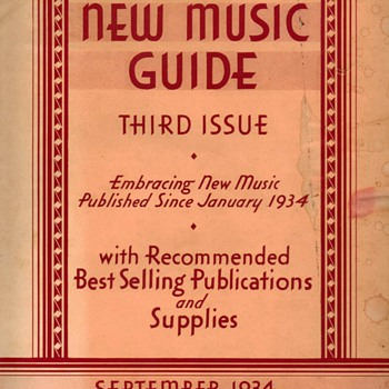 1934 - Gamble Hinged Music Co. Catalog