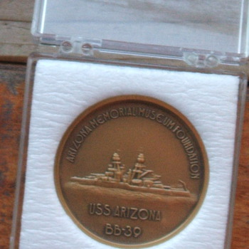 U.S.S. Arizona Memorial Token - Military and Wartime
