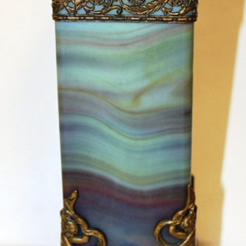 Lithyalin Glass Vase - 19th Century