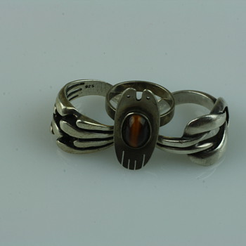 Silver modernist rings - Fine Jewelry