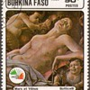"1985 - Burkina Faso ""Botticelli"" Postage Stamp"