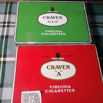 Craven A tins - Tobacciana