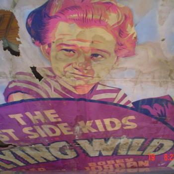 Old hand painted movie posters from the 1940's